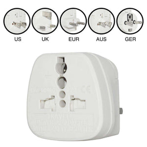 Wonpro® All In One Universal Global Travel Adapter - White