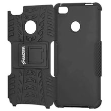 Load image into Gallery viewer, AMZER Shockproof Warrior Hybrid Case for Xiaomi Mi 4s - Black/Black - fommystore