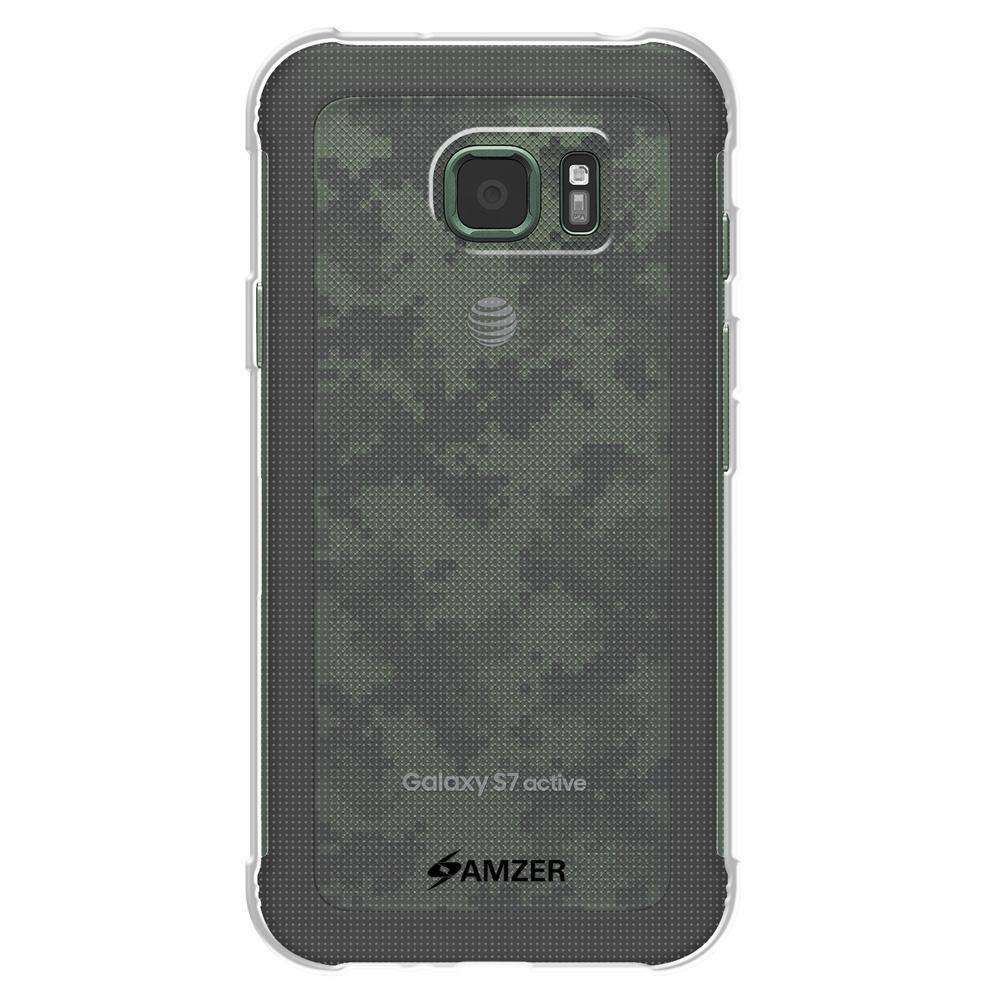 AMZER Pudding Soft TPU Skin Case for Samsung GALAXY S7 Active SM-G891A - Clear - fommystore