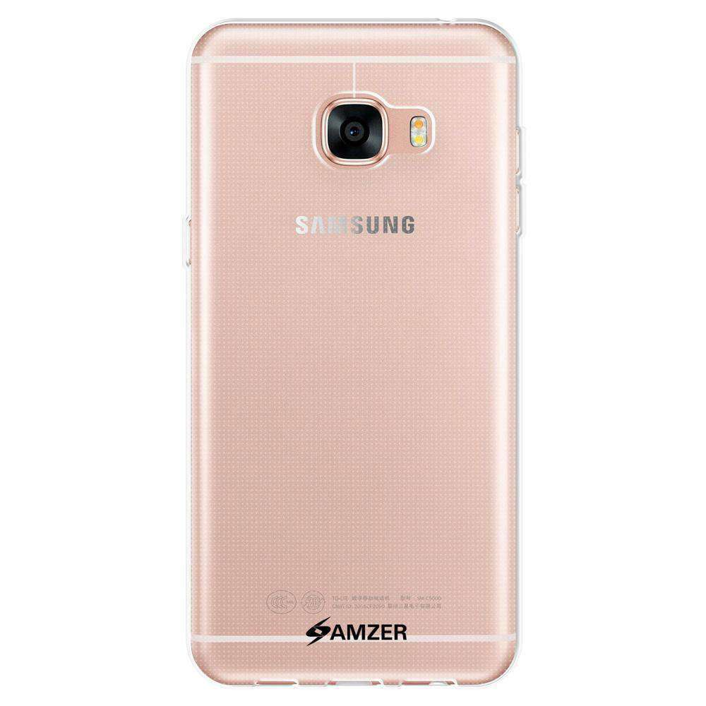 AMZER Pudding Soft TPU Skin Case for Samsung GALAXY C5 SM-C5000 - Clear - fommystore