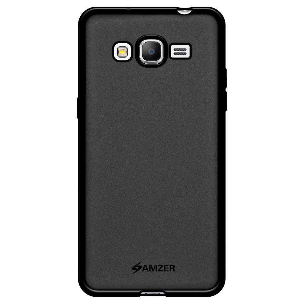 AMZER Pudding Soft TPU Skin Case for Samsung GALAXY Go Prime - Black - fommystore