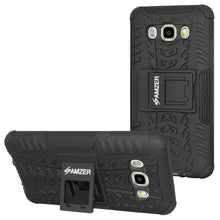 Load image into Gallery viewer, AMZER Shockproof Warrior Hybrid Case for Samsung Galaxy J7 2016 - Black/Black - fommystore