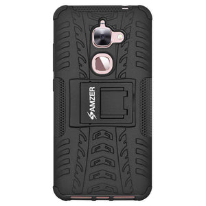AMZER Shockproof Warrior Hybrid Case for LeEco Le 2 - Black/Black - fommystore