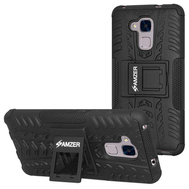 AMZER Hybrid Warrior Case - for Huawei Honor 5C - Black/Black - fommystore