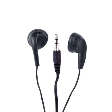 3.5mm Vibe Color Tunes VS-120 In-Ear Stereo Headphones - Black - fommystore