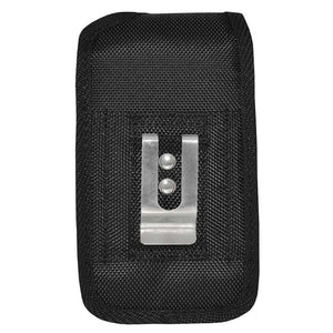 Oversized Heavy Duty Vertical Nylon Case with Belt Clip - Black