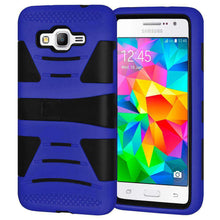 Load image into Gallery viewer, Dual Layer Hybrid KickStand Case for Samsung GALAXY Go Prime - Black/Dark Blue - fommystore