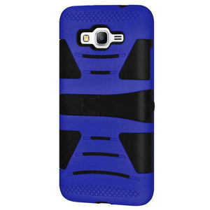 Dual Layer Hybrid KickStand Case for Samsung GALAXY Go Prime - Black/Dark Blue - fommystore