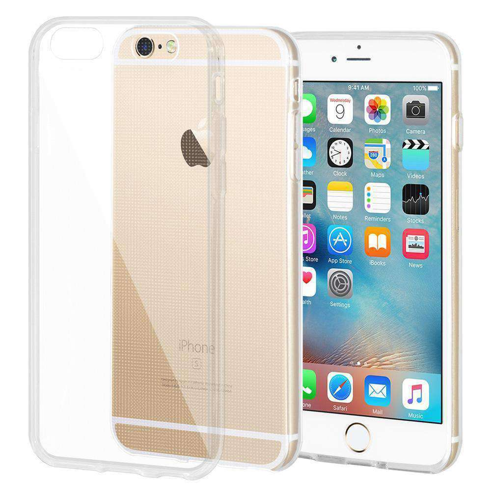 Slim Thin Soft Clear TPU Cover for iPhone 6 - 2 Pack - fommystore