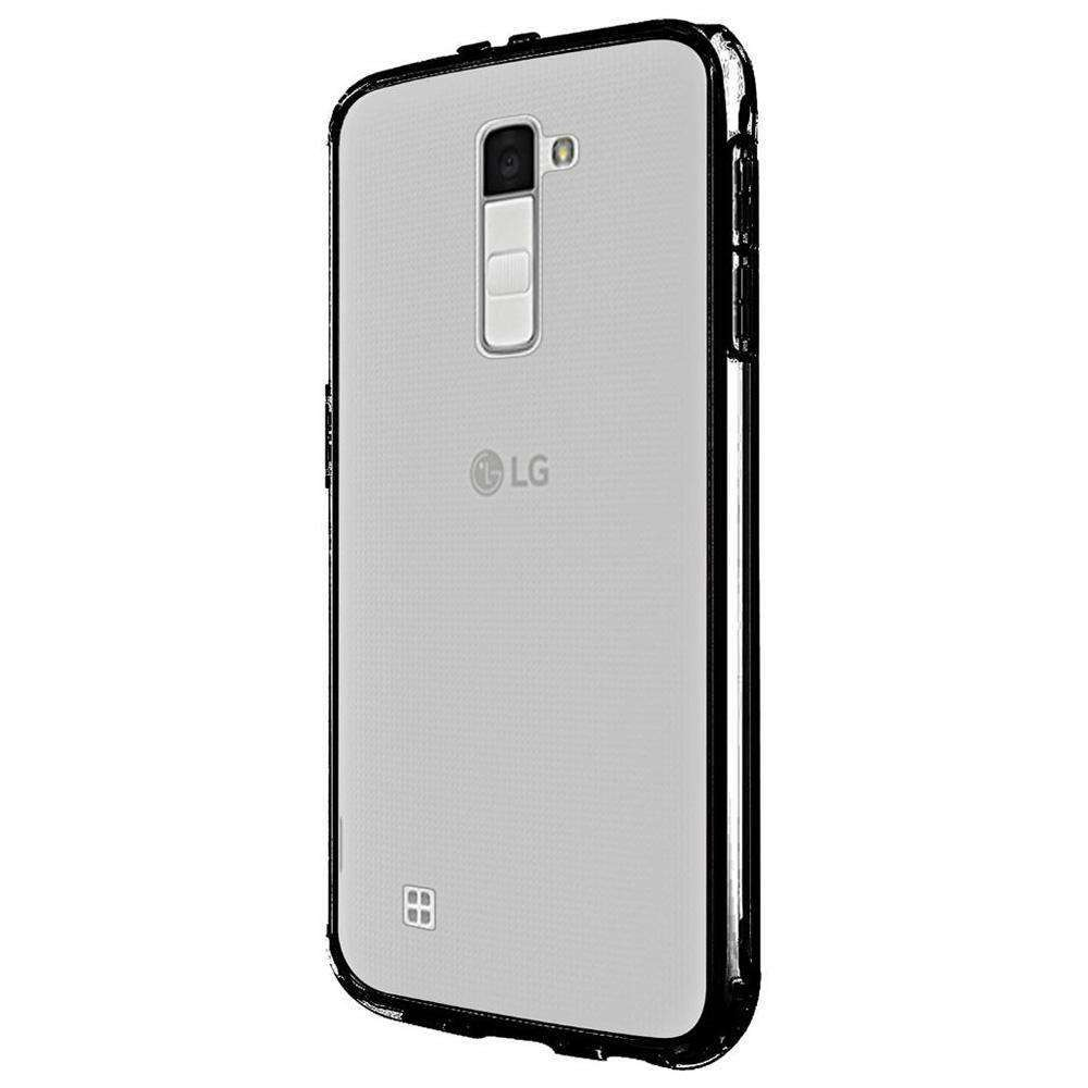 Ultra Slim Hard Transparent Fused TPU Case - Clear/ Black for LG K7 - fommystore