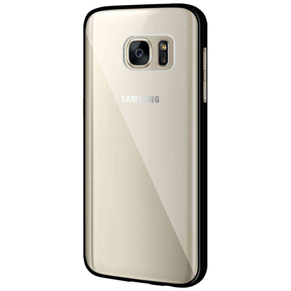 Ultra Slim Hard Transparent Fused TPU Case for Samsung GALAXY S7 SM-G930F - Clear/Black - fommystore