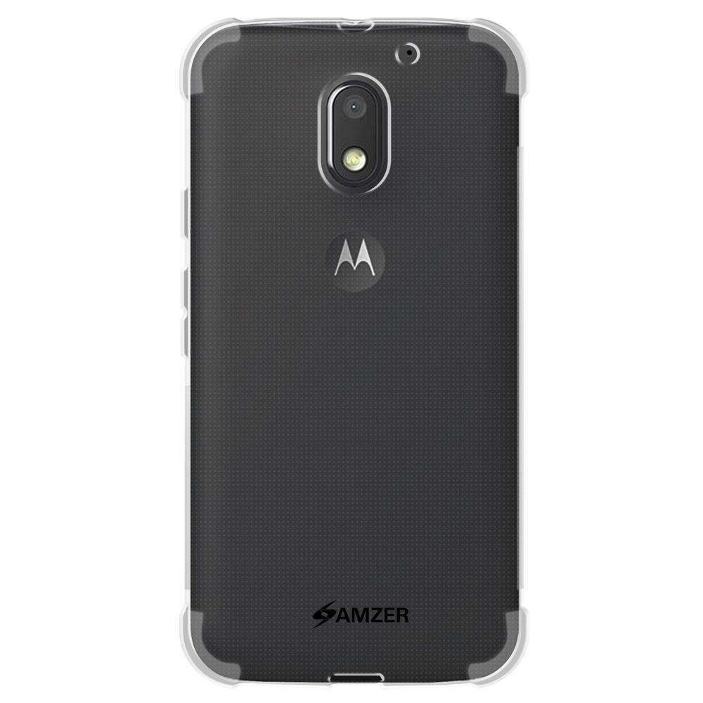 AMZER Pudding TPU Soft Skin X Protection Case for Moto E 3rd Gen - Clear - fommystore