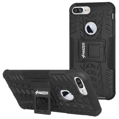 AMZER Shockproof Warrior Hybrid Case for iPhone 7 Plus - Black/Black - fommystore