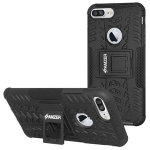 AMZER Shockproof Warrior Hybrid Case for iPhone 7 Plus - Black/Black