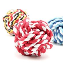 Load image into Gallery viewer, 3 x Pets Weave Cotton Rope Ball Colorful Woven Pet Dog Cat Toy, Medium Size (Random Color) - fommystore