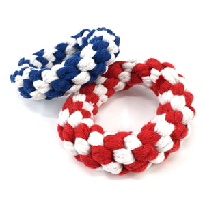Braided Cotton Rope Training Biting Interactive Teeth Cleaning Chews Toy, Size: 10.5 x 3.0m, Random Color Delivery - fommystore