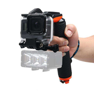 AMZER Shutter Trigger + Floating Hand Grip Diving Buoyancy Stick with Adjustable Anti-lost Strap & Screw & Wrench for GoProNEW HERO /HERO6 /5 Black