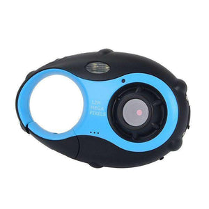 5MP 1.5 inch Color Screen Mini Keychain Type Gift Digital Camera for Children(Blue) - fommystore