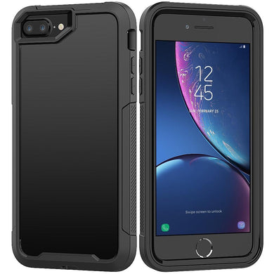 AMZER Full Body Hybrid Cover With Tempered Glass Screen Protector for iPhone 8 Plus