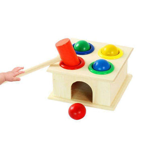 Baby Early Education Intellectual Toy Percussion Knocking Table, Size: 12*12*10cm - fommystore