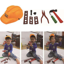 Load image into Gallery viewer, Children Role Playing Cosplay Engineering Set with Helmet - fommystore