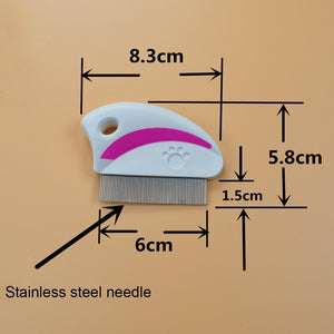 5 PCS Stainless Steel Needle Combs Pet Fleas Removal Beauty Supplies, (Randon Color) - fommystore