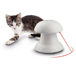 Non-directional Spinning Laser Cat Toy, Random Color Delivery - fommystore