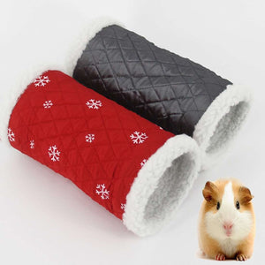 Winter Warm Snowflake Pattern Cotton Nest Single Channel, Hedgehog Spider Hamster Warm Tunnel Toy, Random Color Delivery