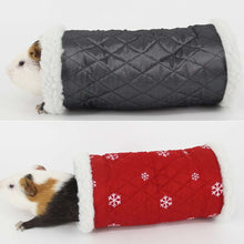 Load image into Gallery viewer, Winter Warm Snowflake Pattern Cotton Nest Single Channel, Hedgehog Spider Hamster Warm Tunnel Toy, Random Color Delivery - fommystore