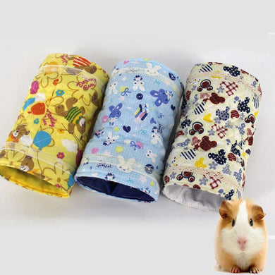 Spring and Autumn Cartoons Pattern Cotton Tunnel Toy, Chinchilla Hamster Warm Two-channels Toy, Random Color Delivery - fommystore