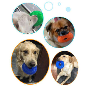 Pet Toys Chewing Bite Sound Toy Chew Ball Thorny Ring Bite Resistant for Large Pets, Size: 12.5 x 12.5cm - fommystore