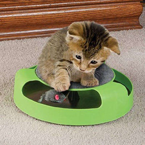 Pet Supplies Cat Plastic Catch the Mouse Interactive Turntable Pet Toys