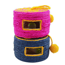 Load image into Gallery viewer, Sisal Woven Round Bucket Wear-resistant Sisal Cat Pet Toys with 2 Sound Ball, Random Color Delivery - fommystore