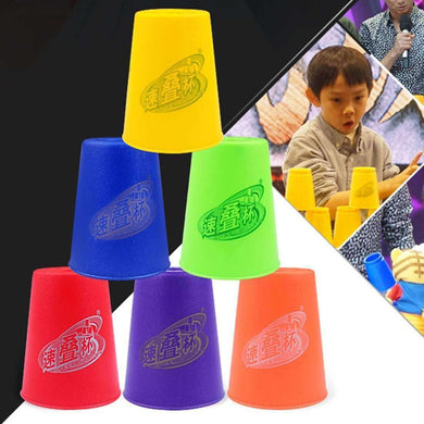 6 PCS Mixed Colors Quick Stack Cup II Speed Training Sports Stacking Cups - fommystore