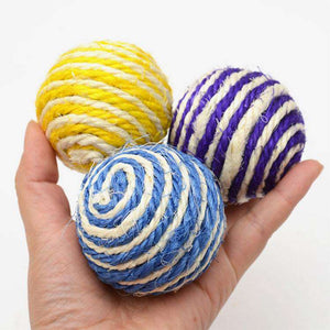Funny Toys Natural Sisal Ball Interesting Cat Toys, Random Color Delivery - fommystore