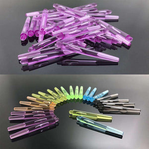 18 PCS Dart Accessory Transparent 2BA Thread PC Dart Shafts with Ring, Length: 45mm, Random Color Delivery - fommystore