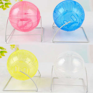 Pet Small Toy Hamster Mute Running Ball with Bracket, Random Color Delivery, Diameter: 12cm
