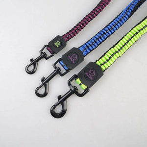 Pet Telescopic Buffer Double Traction Rope Nylon Reflective Braided Rope, Random Color Delivery - fommystore