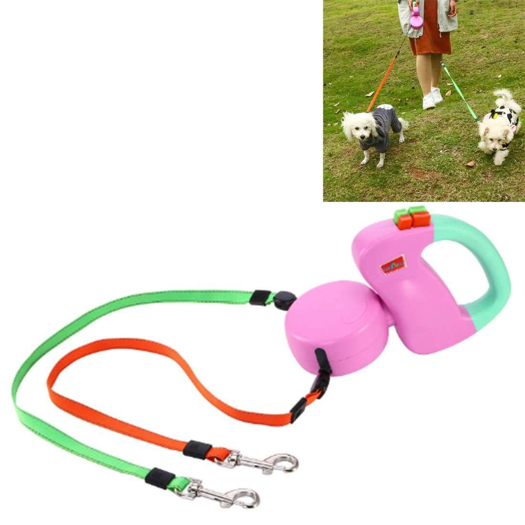 Two-headed Creative Automatic Retractable Pet Traction Rope - fommystore