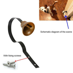 2 PCS Retro Christmas Bell Metal Wall Bells Pet Dog Training Doorbell Home Decor - fommystore