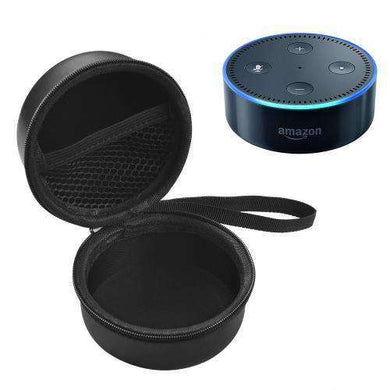 AMZER Portable New Amazon Echo Dot 2nd Intelligent Bluetooth Speaker Storage Bag Protective Case  - Black - fommystore