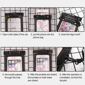 Universal Waterproof Transparent Pouch Glows in Dark Dry Bag With ArmBand function - fommystore