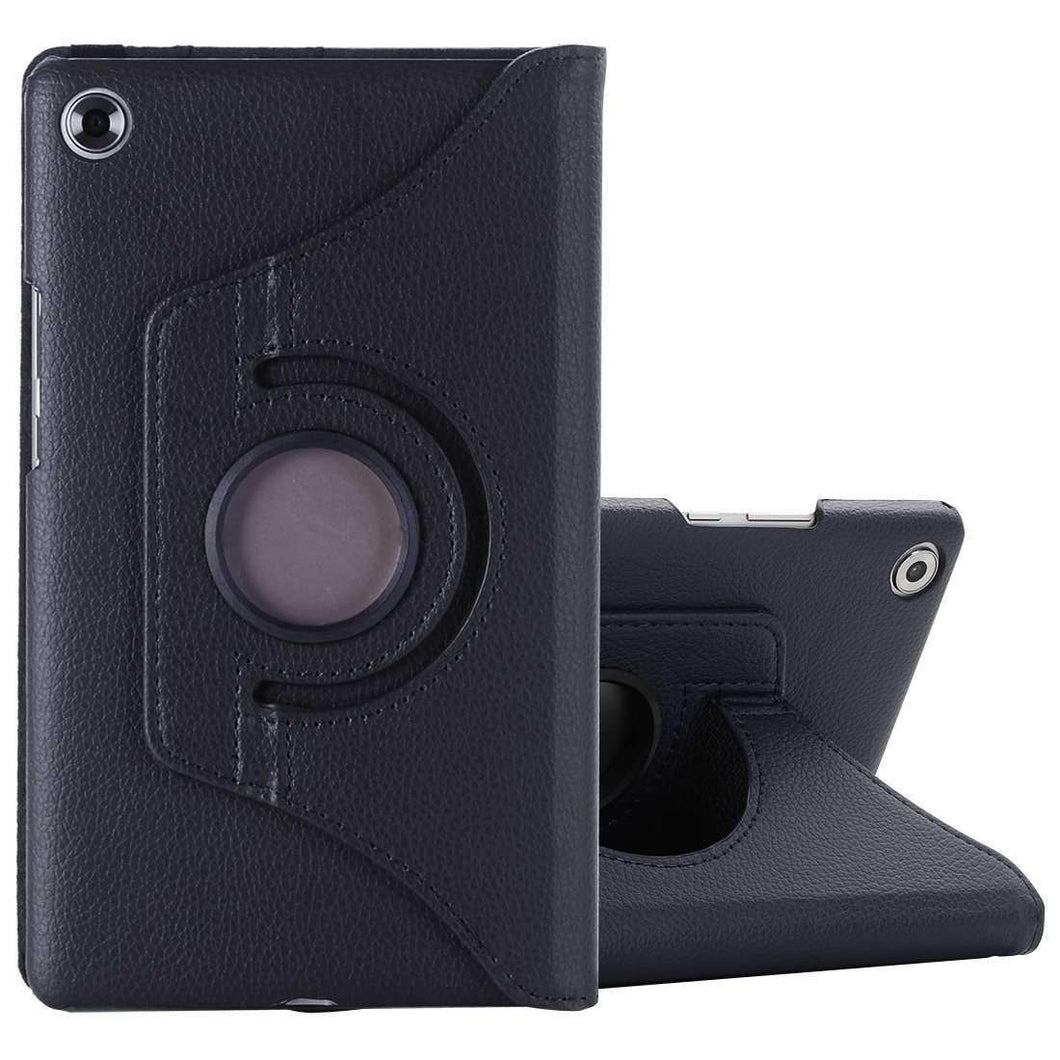 AMZER Texture PU Leather Case with Holder & Sleep / Wake-up For Huawei MediaPad M5 8.4 inch - Black - fommystore