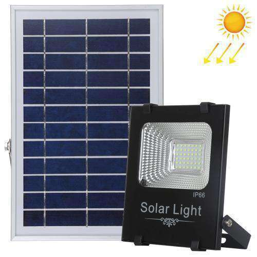 AMZER 50W Ultra-thin IP66 Waterproof Solar Powered Timing LED Flood Light, 42 LEDs SMD 2835 LED Lamp with 6V / 0.83A Solar Panel & Remote Control - White Light - fommystore