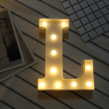 Load image into Gallery viewer, AMZER Alphabet A to Z Marquee Letter Shape Decorative LED Light for Wedding Birthday Party Christmas - fommystore