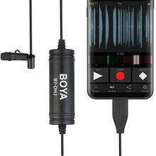 Load image into Gallery viewer, USB-C / Type-C Broadcast Lavalier Condenser Microphone with Windscreen for Android Phones / Tablets (Black) - fommystore