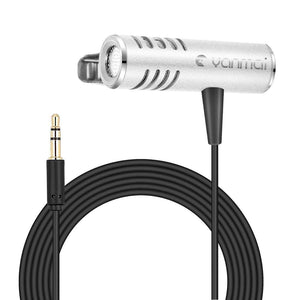 Professional Clip-on Lapel Mic Lavalier Omni-directional Double Condenser Microphone Silver, For Live Broadcast, Show, KTV, etc