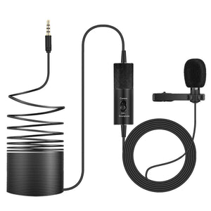 Professional Clip-on Lapel Mic Lavalier Omni-directional Condenser Microphone, For Live Broadcast, Show, KTV, etc