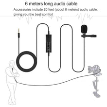Load image into Gallery viewer, Professional Clip-on Lapel Mic Lavalier Omni-directional Condenser Microphone, For Live Broadcast, Show, KTV, etc - fommystore