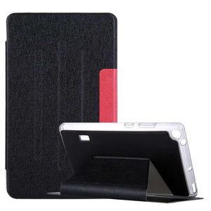 AMZER Horizontal Flip Leather Case With Holder For Huawei MediaPad T3 7 - Black - fommystore